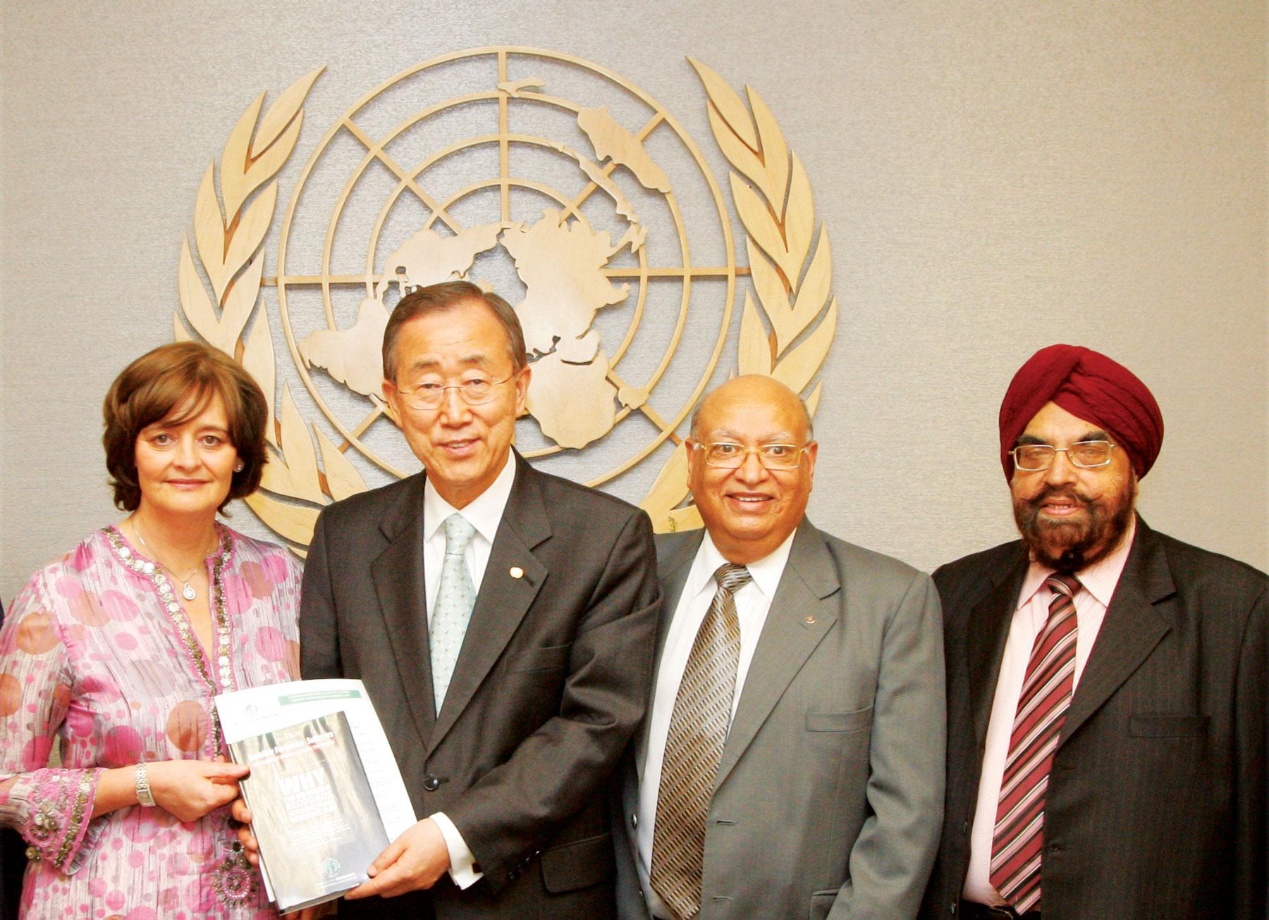 UNSG Ban Ki-Moon receives IWD presentation