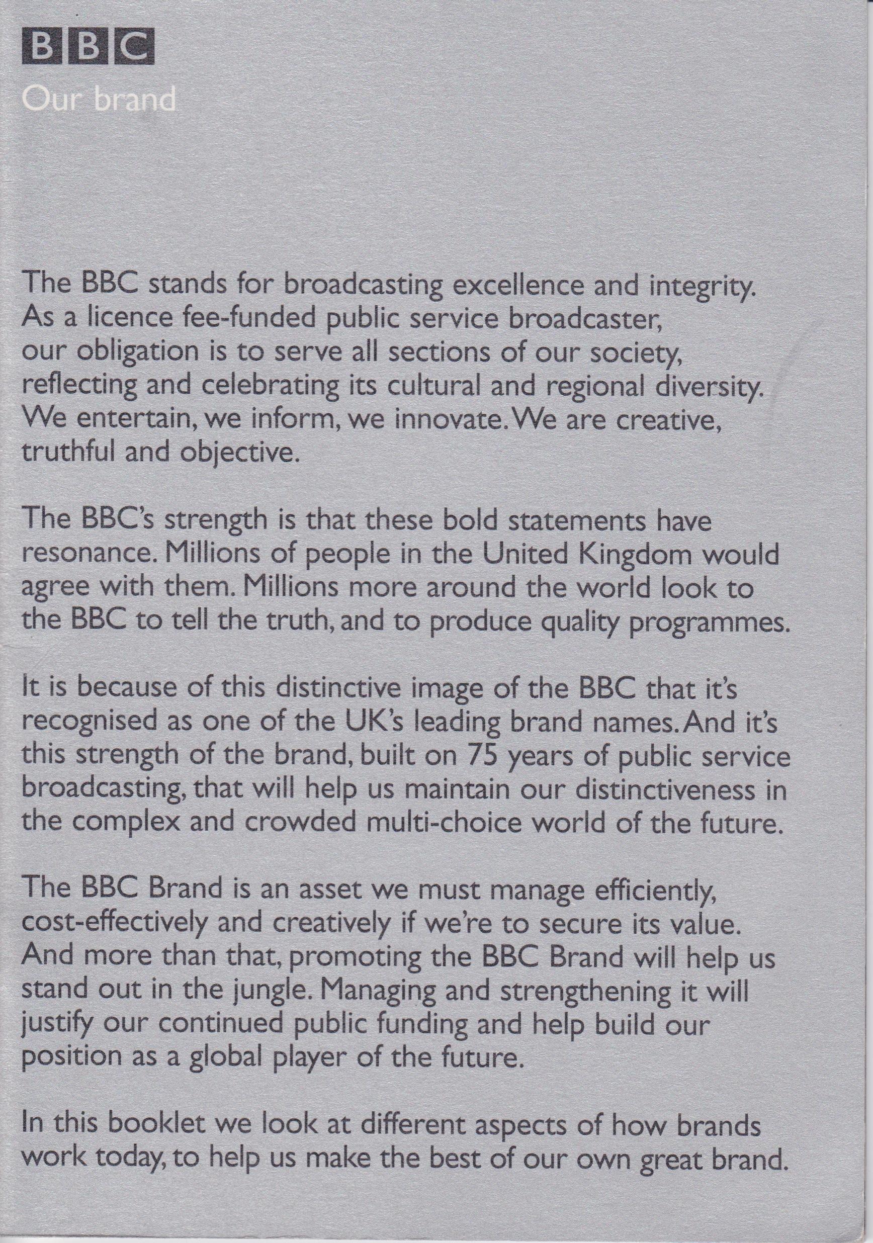 BBC Our Brand